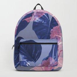 Blue red Leaves pattern Design #leaves  Backpack
