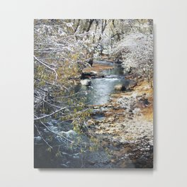 A Creek on a Snowy Day in Boulder, Colorado II Metal Print