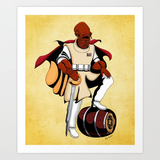 Captain Ackbar Art Print