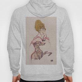 """Egon Schiele """"Edith Schiele mit Windhund"""" Hoody"""