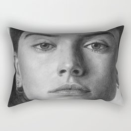 Daisy Ridley Portrait Rectangular Pillow