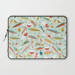 Fishing Lures Light Blue Laptop Sleeve