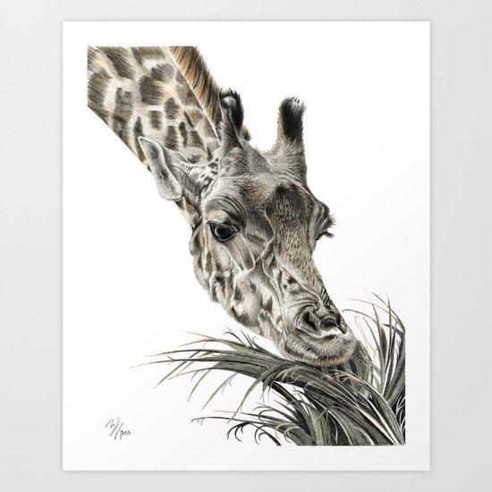 Giraffe - A Long Munch Art Print