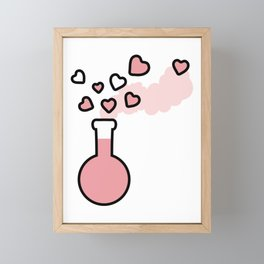 Pink Love Magic Potion in a Laboratory Flask Framed Mini Art Print