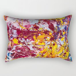 Neural carnival Rectangular Pillow