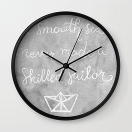 A Smooth Sea Wall Clock