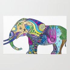 Elephant Profile Rug
