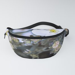 Wild & White little flowers and it's buds Fanny Pack