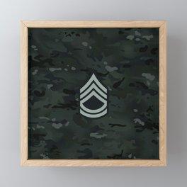 Sergeant First Class (Urban Camo) Framed Mini Art Print