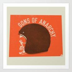 Sons of Anarchy Skull Helmet Art Print