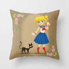 Retro Sailor Moon Throw Pillow