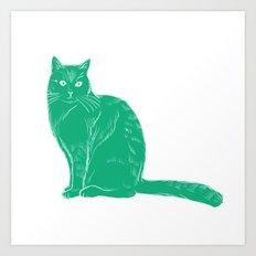 Russell - Cat colour print Art Print