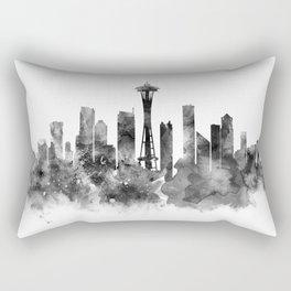 Seattle Black and White Rectangular Pillow