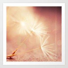 My Wish for You. dandelion seeds photograph Art Print