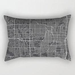 Omaha Map, USA - Gray  Rectangular Pillow