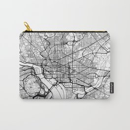 Washington Map White Carry-All Pouch