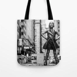 Fearless Girl New York City Tote Bag