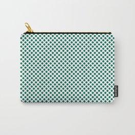 Ultramarine Green Polka Dots Carry-All Pouch
