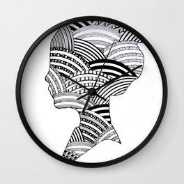 Sillouette Pattern Wall Clock