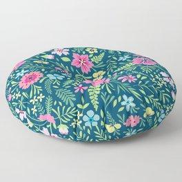 Floral pattern. Pink flowers. Spring pattern. Floor Pillow