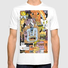 The Escape Plan LARGE White Mens Fitted Tee