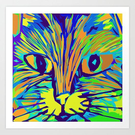 Orange Kitty 3 Art Print