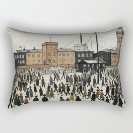Going To Work L.S Lowry Rectangular Pillow