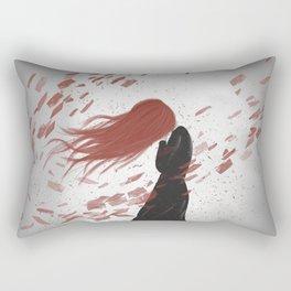Red Sadness Rectangular Pillow