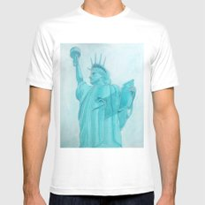 BROOKLYN LIBERTY MEDIUM Mens Fitted Tee White