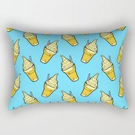Sweet Little Pineapple Floats on Blue Rectangular Pillow