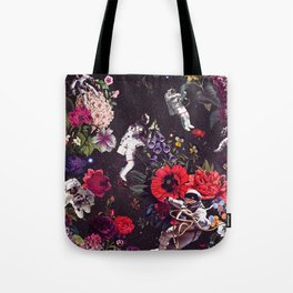 Flowers and Astronauts Tote Bag