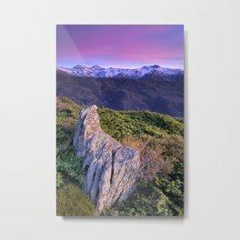 Mulhacen, Alcazaba and Veleta mountains  at sunset Metal Print