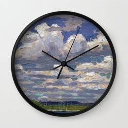 Tom Thomson - Summer Day - Canada, Canadian Oil Painting - Group of Seven Wall Clock