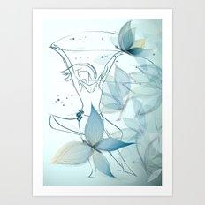 Le positive design dinamique du madame butterfly Art Print