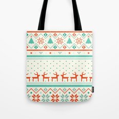 Festive Fair Isle Tote Bag