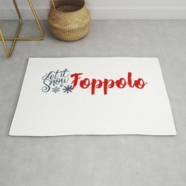 Snow in Foppolo Rug
