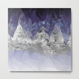 Mystic Mountains Conversation Metal Print