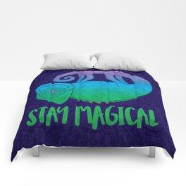 Stay Magical Levitating Chameleon Comforters