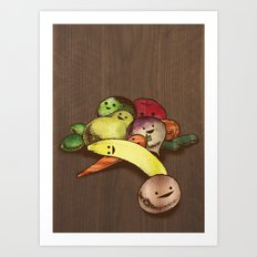 Fruit With Faces Art Print