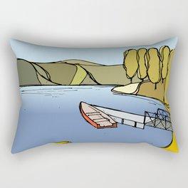Silent Lake Rectangular Pillow