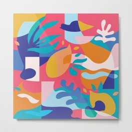 Amalfi Abstraction / Colorful Modern Shapes Metal Print