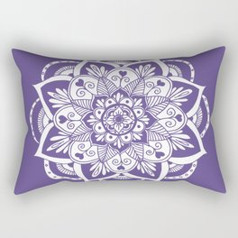 Ultraviolet Flower Mandala Rectangular Pillow
