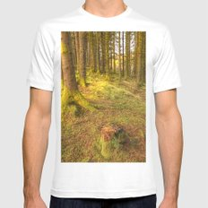 Stump Wood MEDIUM Mens Fitted Tee White
