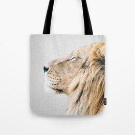 Lion Portrait - Colorful Tote Bag