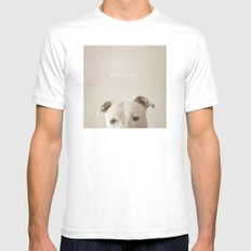 Pit bull love  White Mens Fitted Tee LARGE