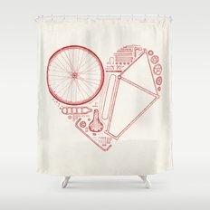 Love Bike Shower Curtain