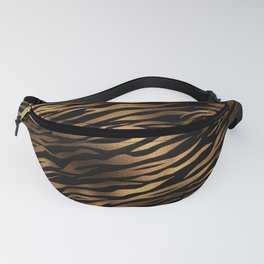 Gold and black metal tiger skin Fanny Pack