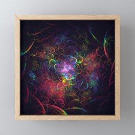 Down the Rabbit Hole 3D Fractal Render Framed Mini Art Print