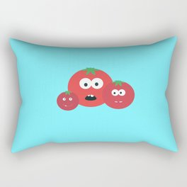 Three Tomatos Rectangular Pillow