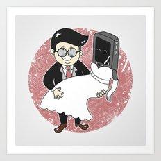 Geek in Love Art Print